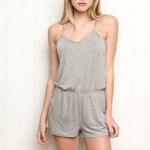 Brandy Melville John Galt Striped Tank Top Romper